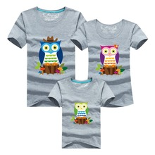 Animal Cartoon Family Clothes Men Summer T-shirt 2016 Harajuku Skate Brand Clothing Anime Owl Tshirt Polera Hombre Funny T Shirt