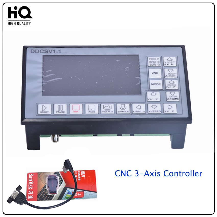 Ddcsv1 1 500khz cnc 3 axis engraving machine controller for Stepper motor control system