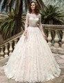 Vestido de noiva Long Sleeves Wedding Dresses Bead Belt Ball Gown Wedding Dress Bridal Gowns Vestidos de Novia Robe de Mariage