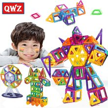 QWZ 138PCS Mini Block Magnetic Designer Models Building Blocks Toy Children's Learning Educational Enlighten Technic Toys Gifts(China)