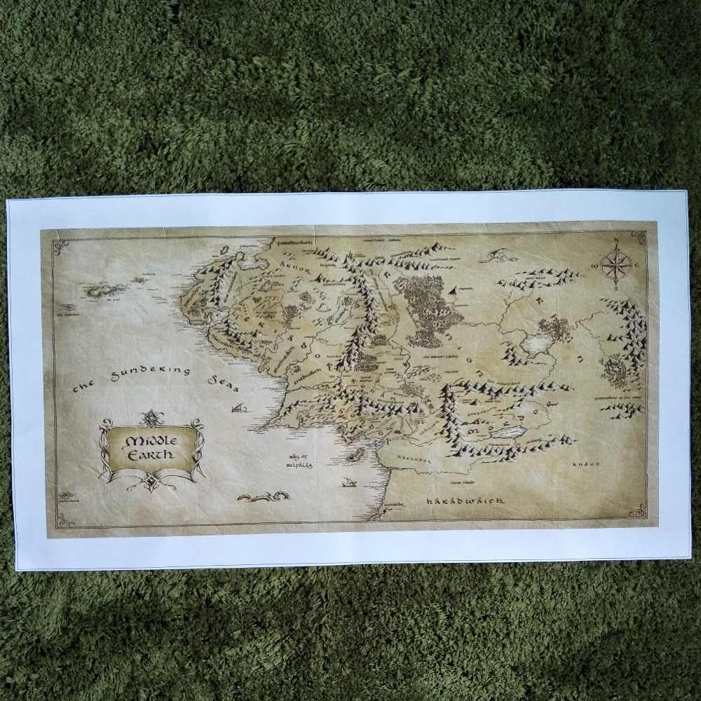 Detail Feedback Questions about ZZ1614 Map of Middle Earth The ... on