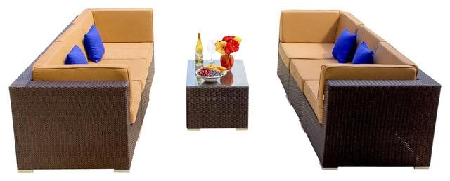2017 Hot Sale Outdoor Furniture Rattan Lounge Sofa Set In Garden