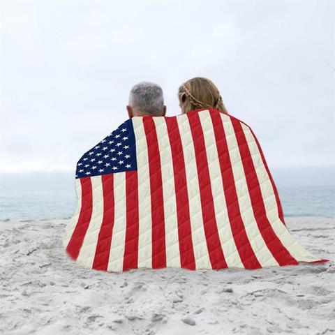 Macio ao ar Acampamento de Secagem Toalha de Banho Bandeira Americana Estrela Cobertor Livre Viagem Cama – Avião Rápida Praia Maiô Gym Chuveiro