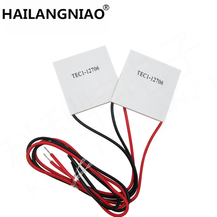 5PCS/LOT TEC1-12706 12706 TEC Thermoelectric Cooler Peltier 12V New of semiconductor refrigeration TEC1-12706 refrigeration refrigeration piece c1206 ceramic aluminum substrate specifications beyond tec1 12706