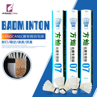 4 dozens FANGCAN Durable Competition Badminton Shuttlecock for Middle High Level Players Club Player 12Ppcs/tube