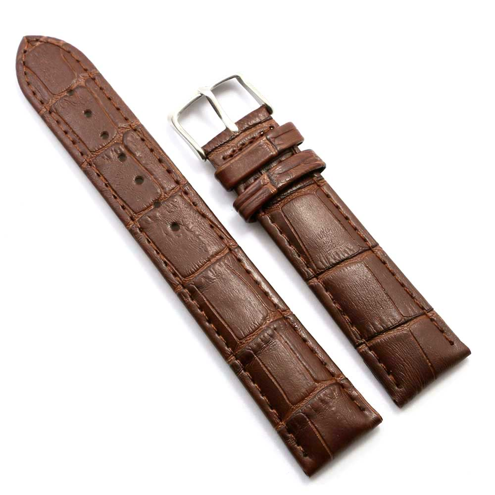 Brown 18mm Charming Nice looking Width Genuine Leather Wrist Watch Band Strap Stainless Steel Buckle + 2 Spring Bars 18 20 22mm genuine leather outdoor replacement black watch strap men band soft stainless steel butterfly buckle 2 spring bars