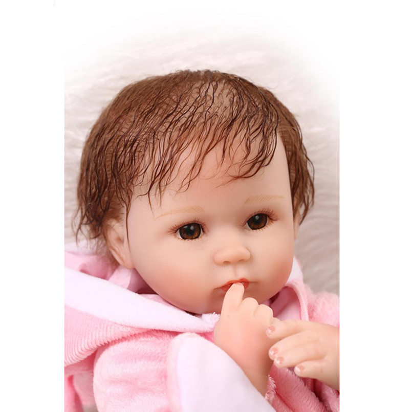 15  Mini Reborn Dolls Silicone Reborn Baby Dolls with Clothes and Pillow,Cute Real Reborn Babies Educational Toys for Children that look and feel real silicone reborn dolls children s intellectual toys baby all soft glue into the water baby babies reborn