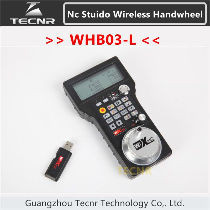 XHC NCStudio CNC handwheel wireless nc studio MPG pendant handwheel for milling machine 3 axis WHB03-L engraving machine remote control handwheel mach3 mpg usb wireless handwheel for cnc 3 4 axis controller milling machine a545a