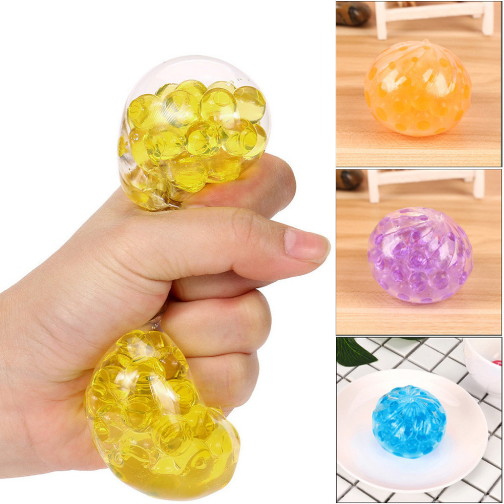 Spongy Bead Water Ball Decompression Squishy Squeeze Kawaii Kid Toy Stress Reliever Decor Small Toys For Kids Toys Gifts K0305