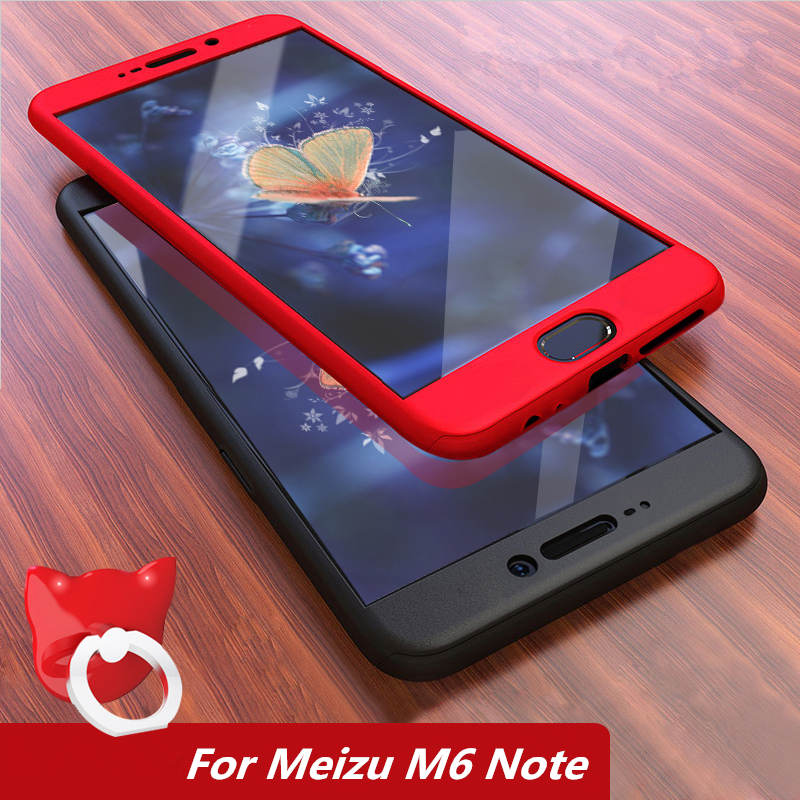 Coque For Meizu M6 Note Case 5.5360 Degree Protected Full Body Phone Case for Meizu M6note Cover Shockproof Case+Tempered Glass