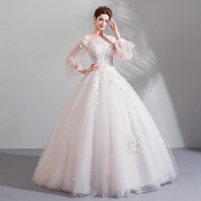 2019 New Young Mom Elegant Shoulderless Long Sleeve Long Banquet Wedding Dress2019 New Young Mom Elegant Shoulderless Long Sleeve Long Banquet Wedding Dress