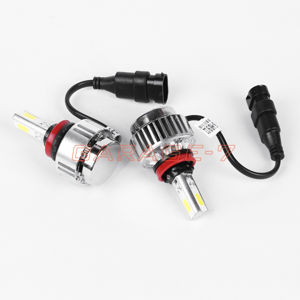 ФОТО Hot sell New Design 3led A336 9V 16V 3300LM 36W 6000K H11 LED Headlight CAR Auto COB all in one