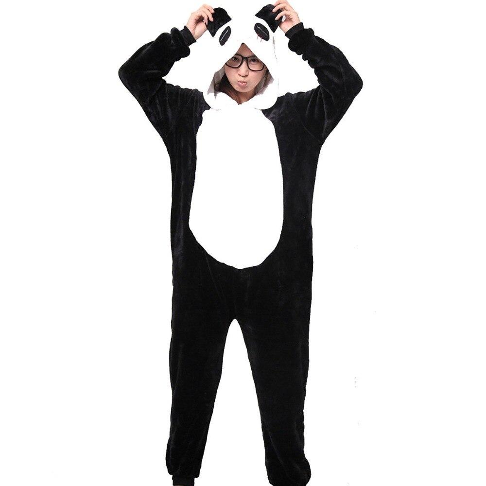 Greywalnut Nejnovější Panda Flannel Podzimní Zimní pyžama Sady Cartoon Animal Sleepwear for Women