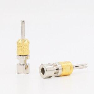 Image 2 - VB418G fiche banane simple plaquée Rhodium connecteur banane 4 MM