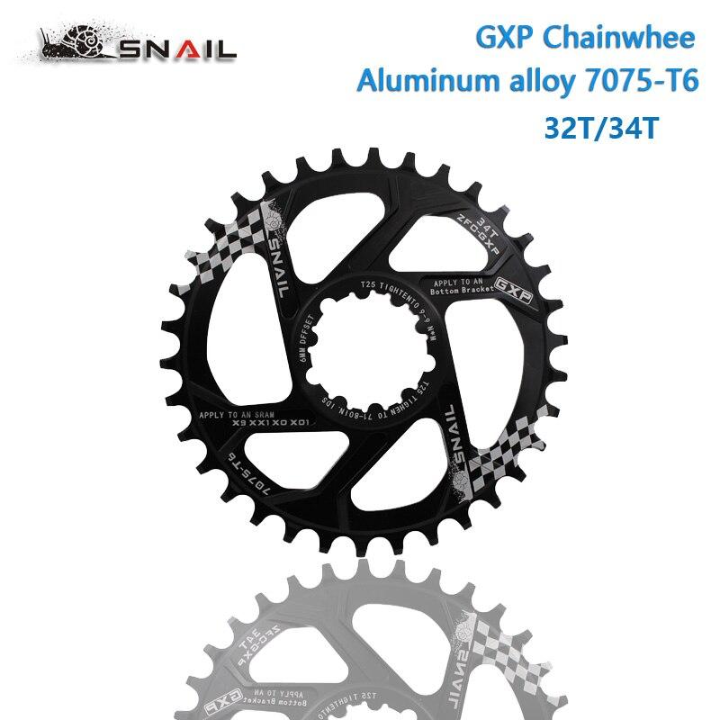 For SRAM GXP Bike Crankset Al 7075 32t 34t 36t 38t Chainring