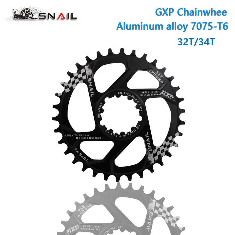 MTB GXP bicycle Crankset fixed gear Crank 30T 32T 34T 36T 38T Narrow Wide Chainring Chainwhee for sram gx xx1 X1 x9 gxp pedivela sram xx1 x9 xo gxp bb30