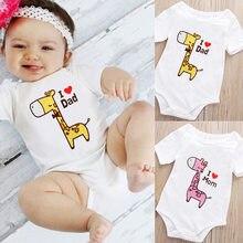 2fcd1fbe1408 Baby Rompers Short Sleeve 100%Cotton Newborn clothes cute giraffe Roupas de  bebe Fashion cartoon baby boys girls jumpsuit clothe
