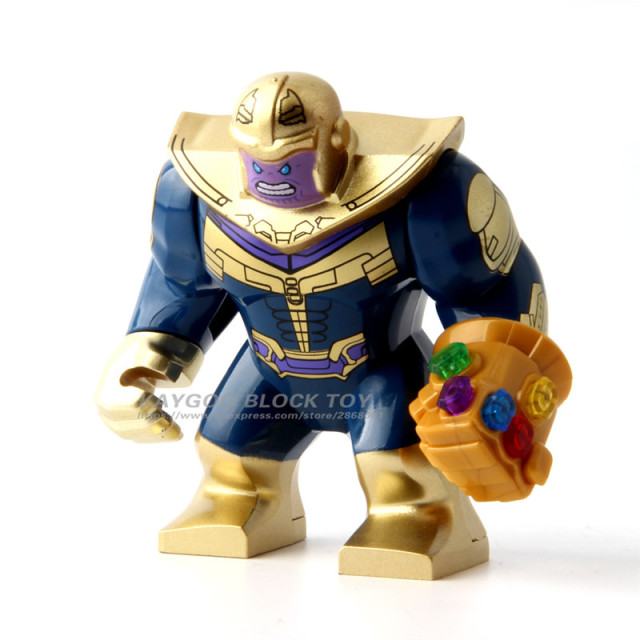 Big Decool Thanos Large Anti Venom Riot Carnage Iron Man Monger Whiplash Hulk Buster Building Block Figures Toy For Children