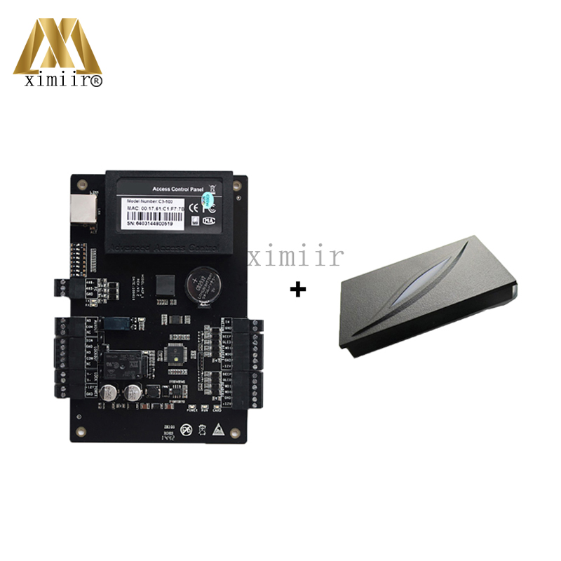 Door Access Control Systems ZK Access Control Board C3-100 One-Door Two-Way Access Control Panel+1 PCS KR100E RFID ReaderDoor Access Control Systems ZK Access Control Board C3-100 One-Door Two-Way Access Control Panel+1 PCS KR100E RFID Reader