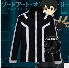 New Sword Art Online Kirito Anime Kazuto Kirigaya Cosplay Costume Top ALO jacket coat thick black hoodie
