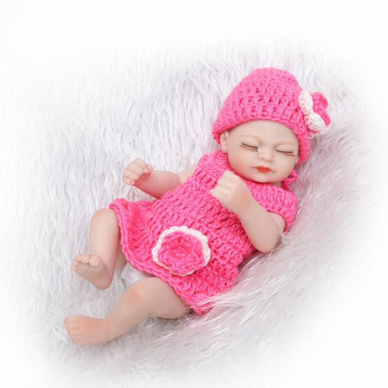 New design Realistic soft Anatomically Correct 10 reborn Baby Girl doll gift for children on Christmas