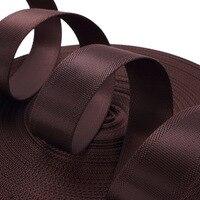 20mm * 50 yards Kahve çanta için siyah naylon dokuma dokuma bant Dikiş Dokuma bant naylon dokuma kayış polyester diy giysiler için