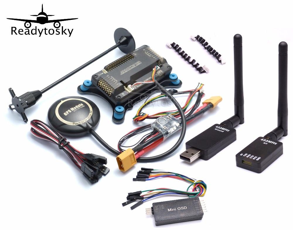 APM2.8 Flight Controller Board Minim OSD NEO-M8N 8N Power Module 433 Mhz/915 Mhz Telemetrie Kit für RC Quadcopter Multicopter