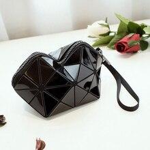 The model new geometric Ling Ge bundle three – dimensional girls clutch women bag
