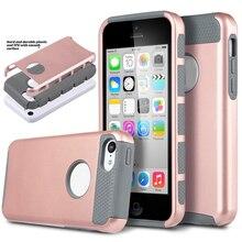 Для iPhone 5C Случае Hybrid Прочный Силиконовый Телефон Случаях Противоударный 2 в 1 году Combo Жесткого Пластика Задняя Shell Чехлы Для Apple iPhone 5C
