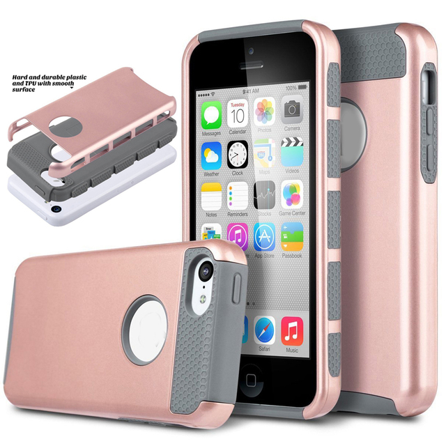 For Iphone 5c Case Hybrid Rugged Silicone Phone Cases Shockproof 2 In 1 Combo Hard Plastic
