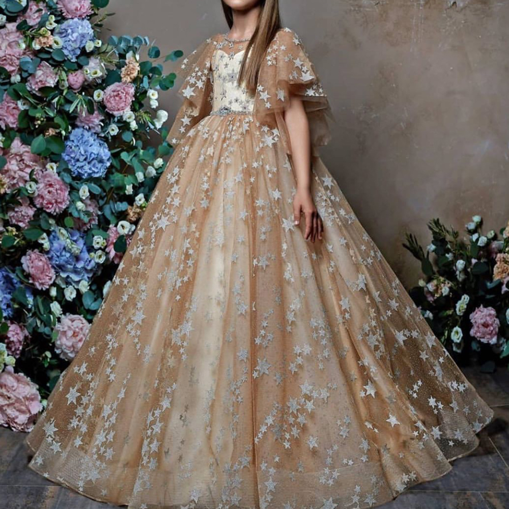 ball gown little   girls     dress     flower     girls     dresses   champagne lace little   girls   party   dresses   kids pageant   dresses