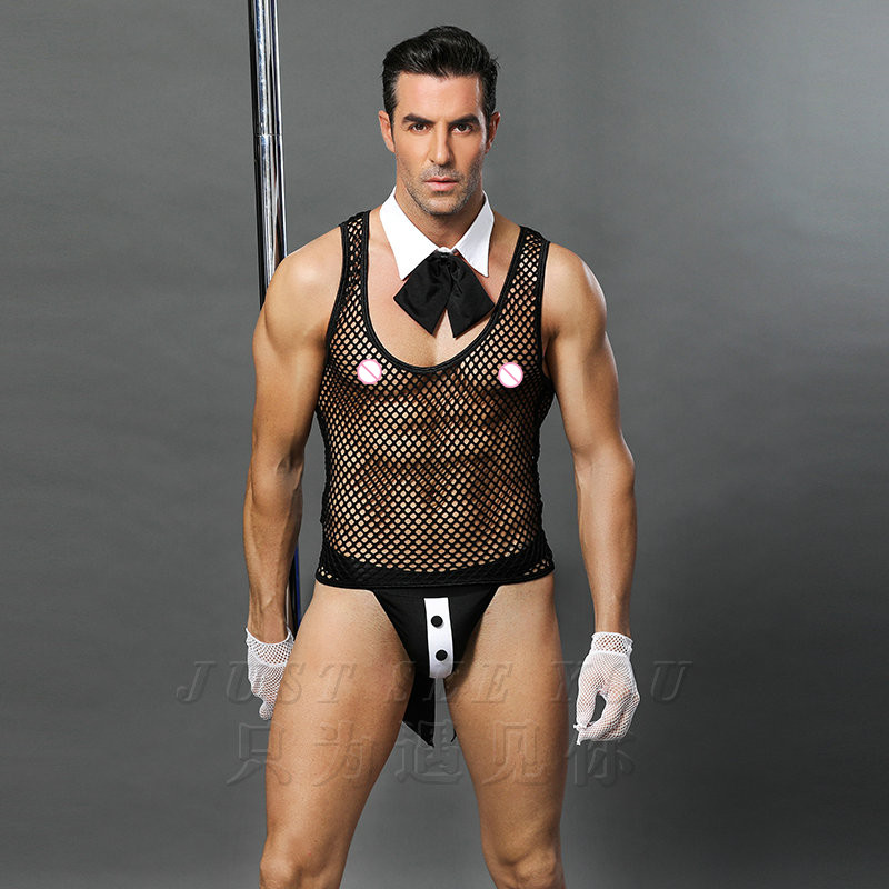 6619 Hot Erotic Men Sexy Waiter Outfit Cosplay Costume Men Maid Lingerie Cosplay Costumes for Sexy Men in Sexy Costumes from Novelty Special Use