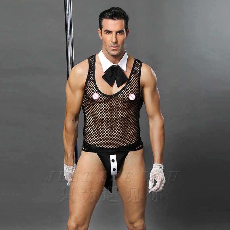 6499c5b8ae7 ... 6619 Hot Erotic Men Sexy Waiter Outfit Cosplay Costume Men Maid  Lingerie Cosplay Costumes for Sexy ...