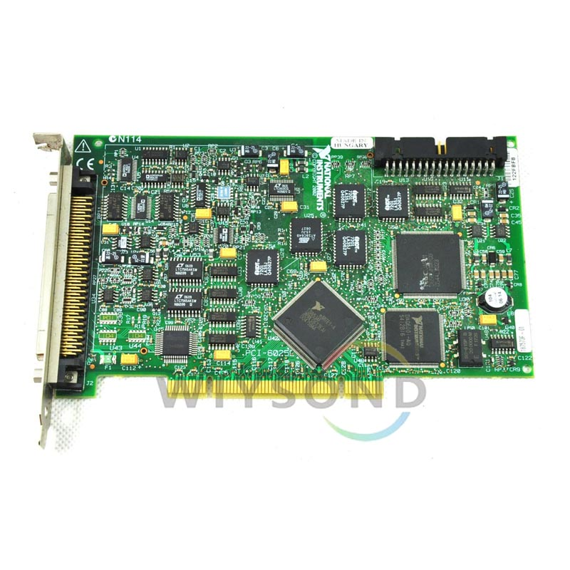 U009 (used) NI PCI-6025E Multifunction DAQ card good condition used but tested good working FREE SHIPPING bmxcps2000 used good in condition with free dhl