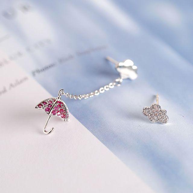 Lovely Asymmetrical Crystal Umbrella Cloud Drop Earrings Fashion Women S Earring Wedding Party Jewelry