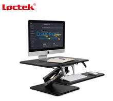 Loctek M3M Height Adjustable Sit Stand Desk Riser Foldable Laptop Notebook/Monitor Holder With Keyboard Tray