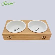 Saim Dog Food Bowls Elevated Cat Cartoon Style Ceramic Pet Bowl Feeder Supplies For Cats Dogs Feeding Dish