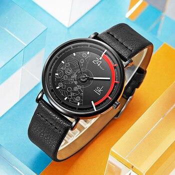 2067379c2c68 SK mujeres creativo relojes de lujo 2019 vestido de cuero relojes de moda  de reloj deportivo Mujer Indicador de Relogio femenino 2019