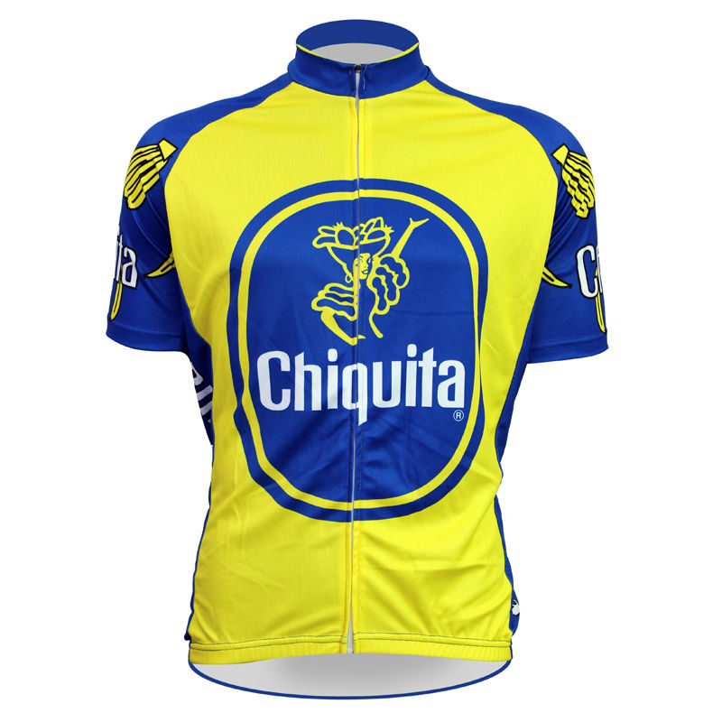 ФОТО 17 Chiquita Pattern Men Summer 2017 Sleeve Riding new Yellow Full Zipper Cycling Jersey SizeXS-5XL