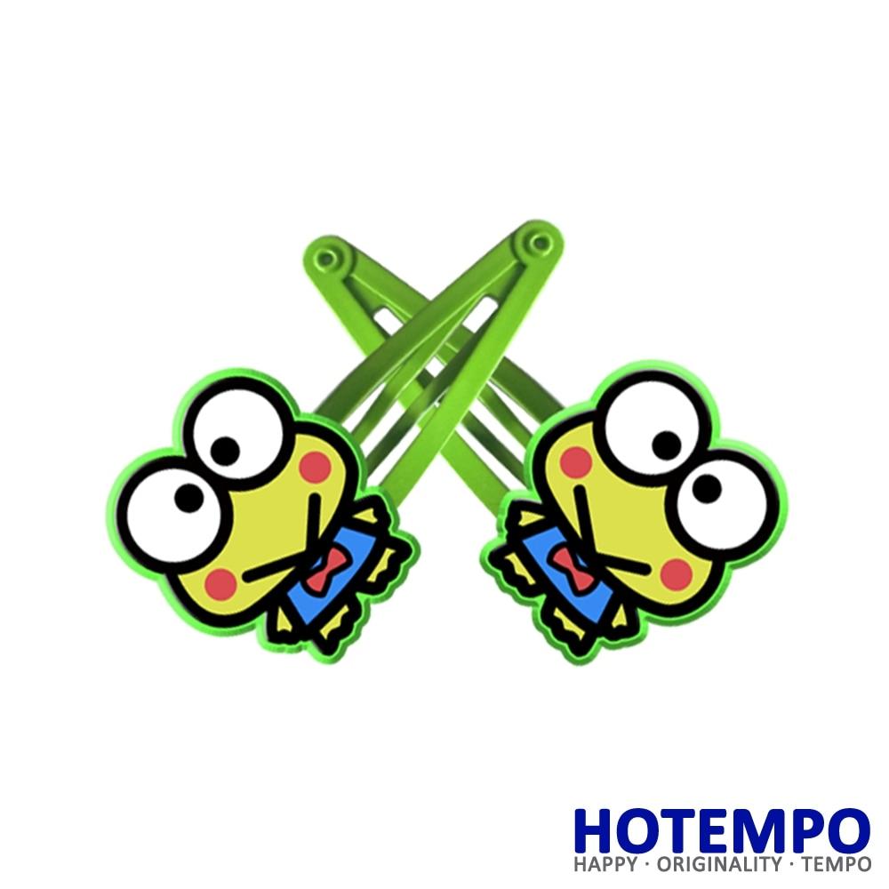 Japan Cartoon Kerokero Keroppi Cute Sanrio Childhood Action Figure for girls Hair accessories gift Hairpins 1pcs scrunchy girls cute simulated biscuits cartoon shape hair clip headbands hairpins kids hairclip hair band hair accessories