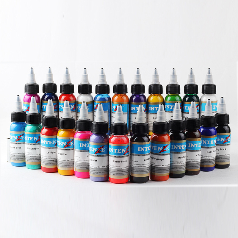 Tattoo & Body Art 1oz Professional Permanent Body Paint Color Tattoo Ink Pigment Set Microblading Pigments For Tattooing 21 PackTattoo & Body Art 1oz Professional Permanent Body Paint Color Tattoo Ink Pigment Set Microblading Pigments For Tattooing 21 Pack