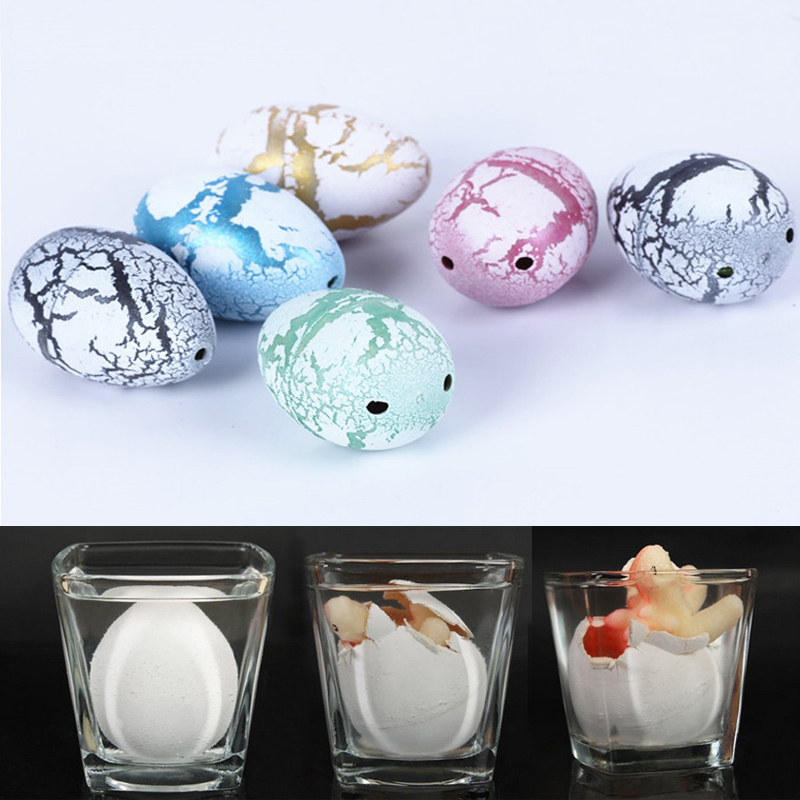 3 Pcs Light Color Water Hatching Expansive Growing Dinosaur Dino Eggs Magic Incubation Cute Children Good Kids Christmas Gift