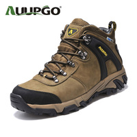 Waterproof Hiking Boots Men Leather Outdoor Shoes Women Top Quality Warm Leather Snow Shoes For Lovers
