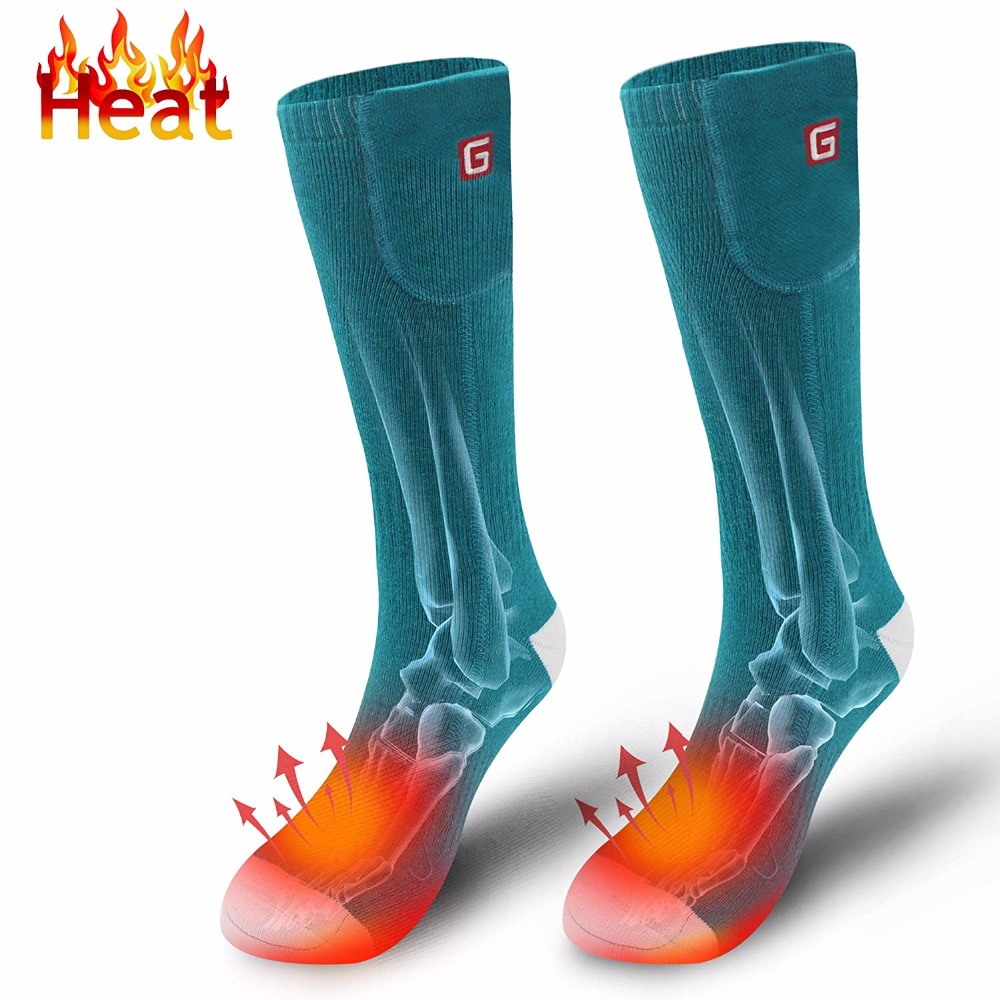 Rechargeable Electric Battery Heated Warm Socks Kit for Chronically Cold Feet Indoor Outdoor Sport Thermal Socks