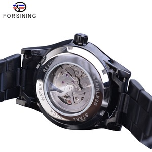 Image 4 - Forsining Silver Dragon Skeleton Automatic Mechanical Men Wrist Watch Full Stainless Steel Strap Clock Waterproof Mens watches