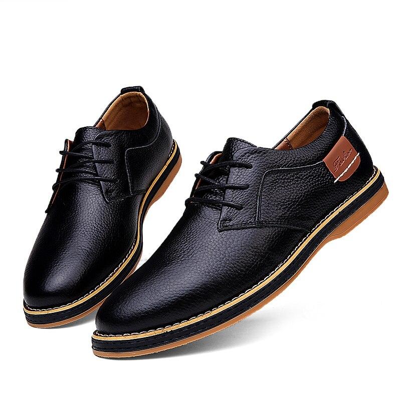 9f0ea57dba6c2 MUYII Zapatos De Vestir De Cuero Oxfords De Los Hombres Zapatos De Vestir De  Moda Clásicos