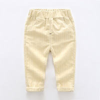 2018 Corea Cómodos Pantalones de Los Muchachos 2-8 T de La Moda Unisex Niñas Rayas Polainas de Cintura Elástica Primavera Pantalon Suave Ocasional Desgaste de los niños
