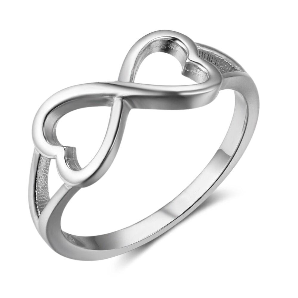 Со для знаком серебряные бесконечности девушек кольца