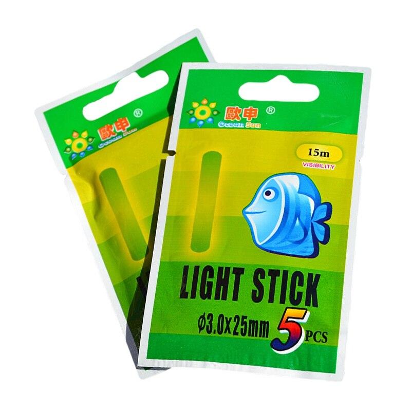 50pcs/set Fishing Float Light Stick Fluorescent Lightstick Night Luminous Float Rod Light Dark Glow Stick Fishing Tool New