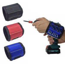 Magnetic Wristband Tool Belt Screws Nails Drill Bits Holder Bag Repair Tools Wrist Electrician Tool Holding 6.7*4.7in(China)